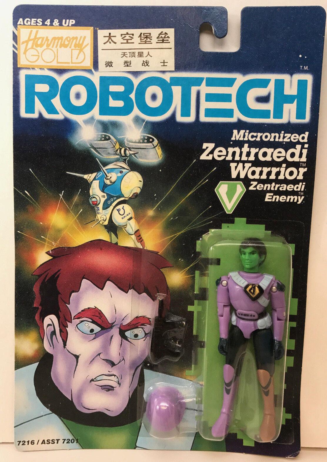 1985 MATCHBOX ROBOTECH MICRONIZED ZENTRAEDI WARRIOR FIGURE SEALED