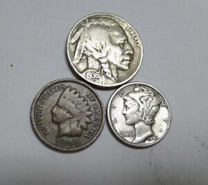Mercury Dime Great Price! Indian Cent /& Buffalo Nickel Estate Sale