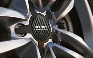 Alloy-Wheel-Centre-Cap-Badges-BLACK-CARBON-Fit-36mm-90mm-With-or-Without-Logo