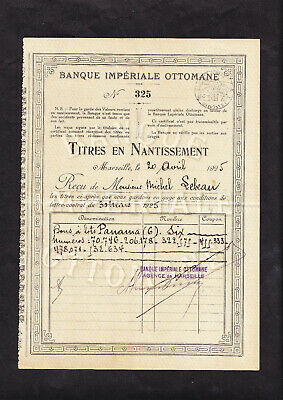 14 50 Outlet >> IMPERIAL OTTOMAN BANK - 1925 - BANQUE IMPERIALE OTTOMANE ...