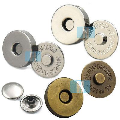 """Purse Closures 2 Sets 18 MM 3//4/"""" Antique Bronze Magnetic Purse Snap Clasps"""