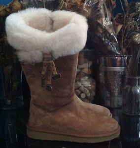 cde3475c1de Details about UGG Plumdale Women's Charm Suede Boot Size 6 Chestnut Model  1006710 W /CHE
