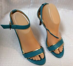 ac3c037754b0e Details about EUC Talbots Womens Heeled Strappy Dress Sandals. Size 6 1/2 B  Color Blue