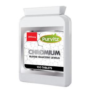 200mcg-Cromo-Picolinato-100-Compresse-Dieta-Perdita-Di-Peso-Dimagrante-zucchero-voglie