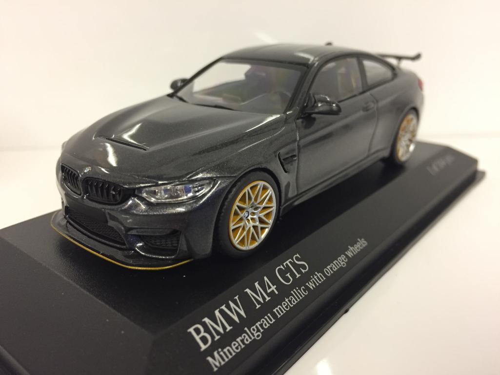 Minichamps 410025228 BMW M4 GTS 2016 grigio metallico con ARANCIONE RUOTE 1:43