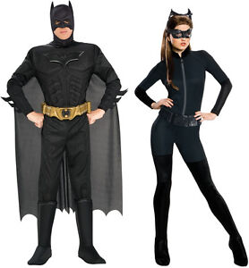Image is loading COUPLES-THE-DARK-KNIGHT-RISES-BATMAN-CATWOMAN-ADULT-  sc 1 st  eBay & COUPLES THE DARK KNIGHT RISES BATMAN CATWOMAN ADULT COSTUME COSPLAY ...