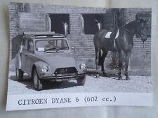 Citroen Dyane 6 press photo brochure 1970's