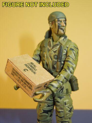 3 Easy Fold échelle 1//18 Vietnam era Combat Ration boxes et manches