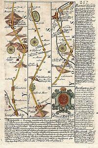 Antique-map-Road-from-Ferrybridg-to-Barnard-Castle