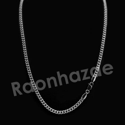 """Tennis Chain Necklace Iced Silver Crown P Initial Pendant  w// 24/"""" Cuban"""