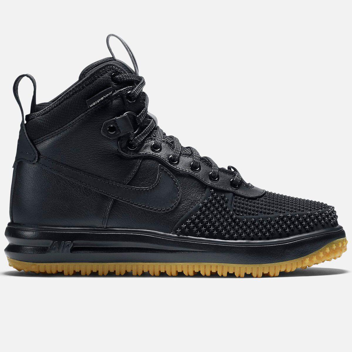 Nike Lunar Air Force 1 LF1 10 12 13 Duckboot Black Silver Gum QS One 805899 003