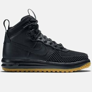 Details about Nike Lunar Air Force 1 LF1 10 12 13 Duckboot Black Silver Gum QS One 805899 003