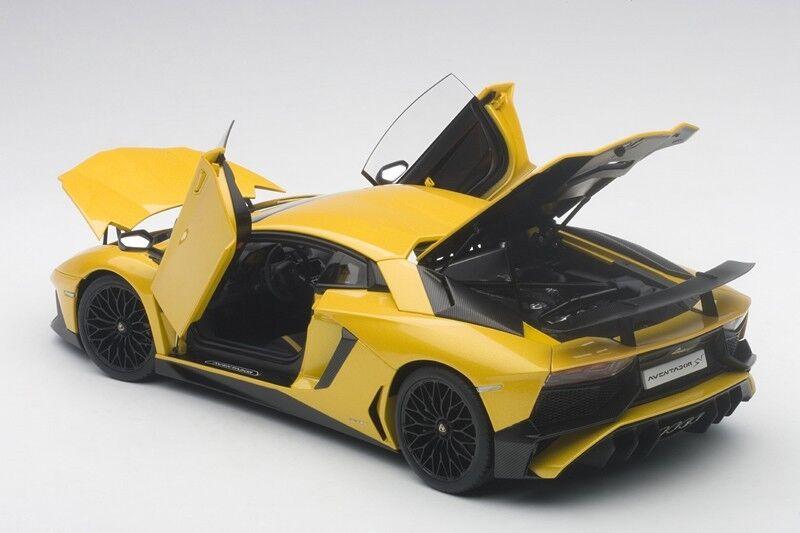 Autoart LAMBORGHINI AVENTADOR LP750-4 SV nouveau  jaune ORION MET jaune 2015 1 18  sortie de marque