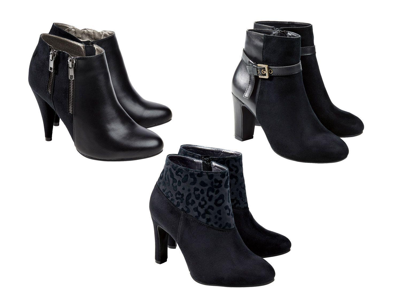 (R25) Femmes Chaussures Bottines Talon Bottes Noir Neuf
