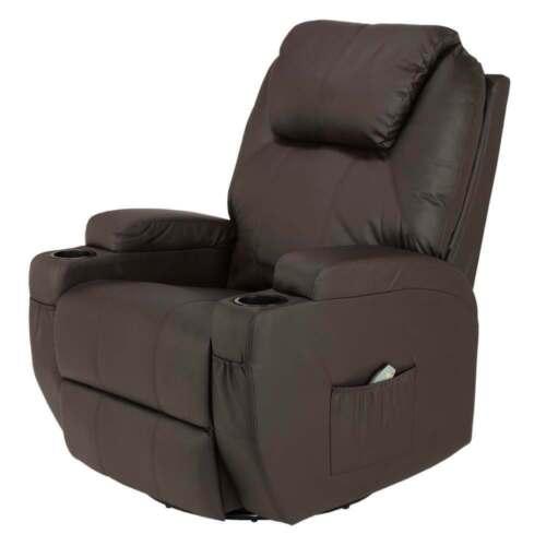 Sedia reclinabile Homegear con 8 punti massaggio elettrico e calore