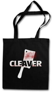 CLEAVER STOFFTASCHE Sopranos The Horror Slasher Butcher Messer Axt Hackebeil