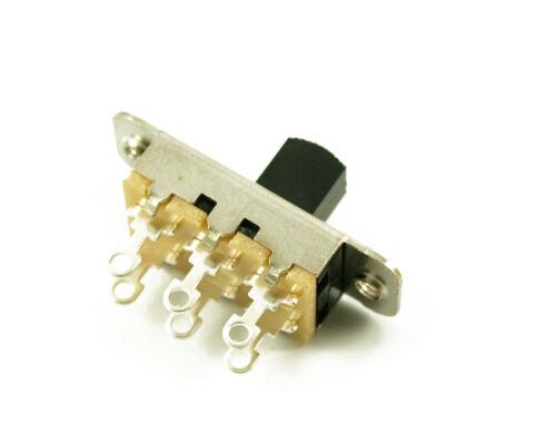 Genuine Switchcraft Slide Switch Jazzmaster//Jaguar black switch