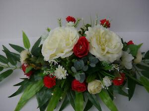 Tischgesteck-Fensterdekoration-Tischdeko-Strauss-Hochzeit-Gesteck-Kunstblumen