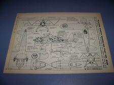 "VINTAGE..1939 FIAT CR.42B ""FALCO"" .... 8-VIEWS/CROSS SECTONS...RARE! (691)"