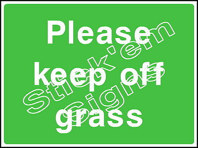 Other Agriculture & Forestry coun0053 Stickers & Signs Last Style Charitable Please Keep Off Grass