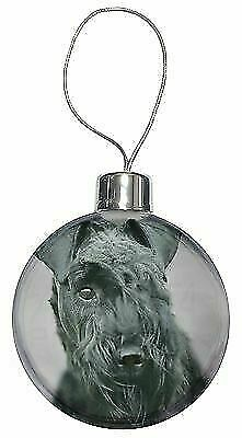 10 colour choices. Kerry Blue Terrier Style A Glitter Christmas Decoration