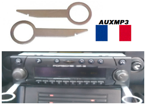 2 Clés clef d/'extraction autoradio cd démontage 2 trous  AUDI A3 A4 A6