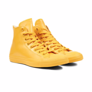 ecfb4c276f7 Details about Women s Converse Chuck Taylor Hi Top Rain Yellow Rubber Boots  Shoes Size 6 new