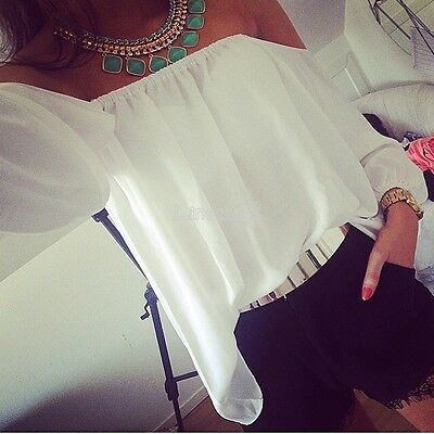Off-Shoulder Tops T-Shirt Blouse Women Strapless Clubwear Fashion Skintight LM