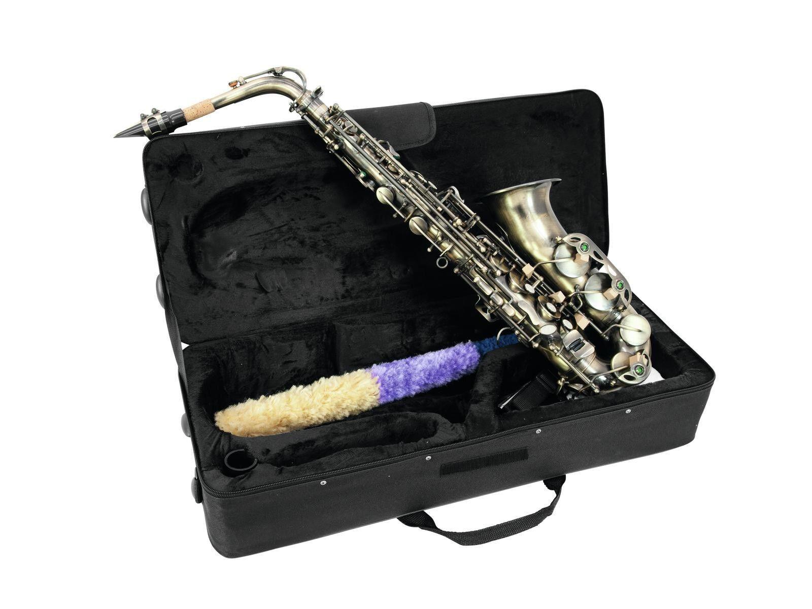 DIMAVERY SP-30 Eb Altsaxophon vintage Edles Altsaxophon in gebürsteter Optik