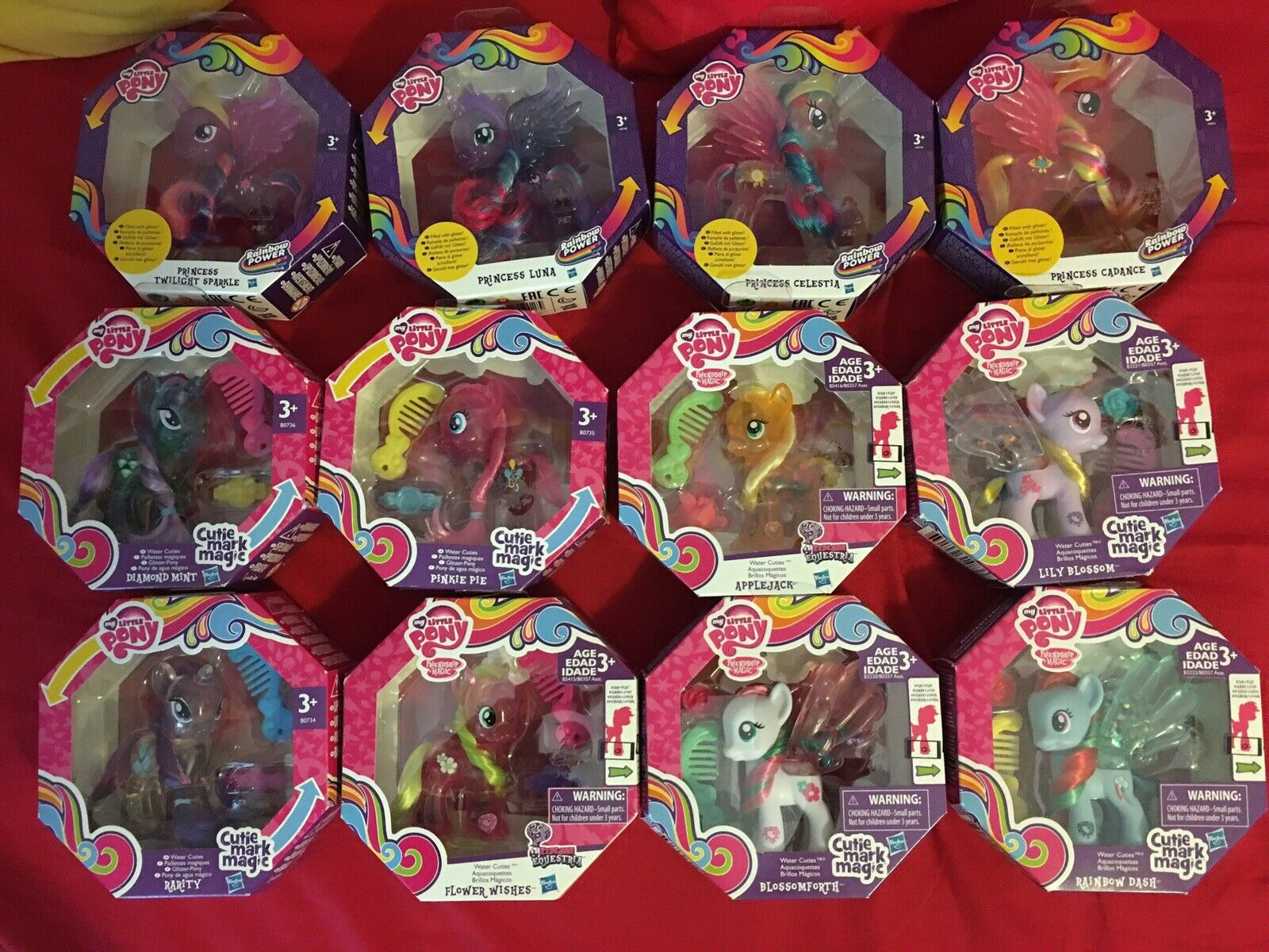 My little pony lot of 12 water ponies cuties very  rare never opened g4 lot  spedizione veloce a te
