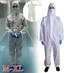 Coverall Protective Suit Safety Overall Work Clothing Breathable Waterproof M-XL