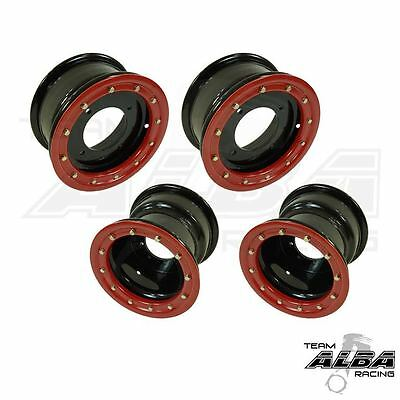 TRX 450r 400ex 300ex  Rear Wheels  Beadlock  9x8 3+5 4//110  Alba Racing  BW