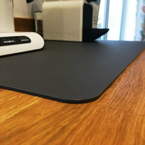 Table Protectors in Dark Grey Mat Finish Acrylic 3mm Rectangle Worktop Savers