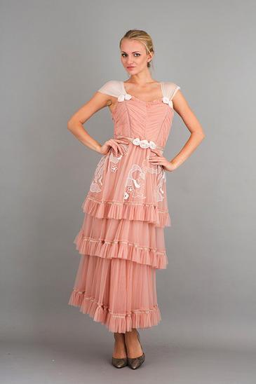 75% OFF  Nataya  Romantic 40244 Vintage Inspirot Dress Rosa Größes S-3XL