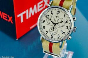 SHARP-NEW-MENS-TIMEX-VINTAGE-MILITARY-AVIATOR-TYPE-CHRONOGRAPH-WATCH