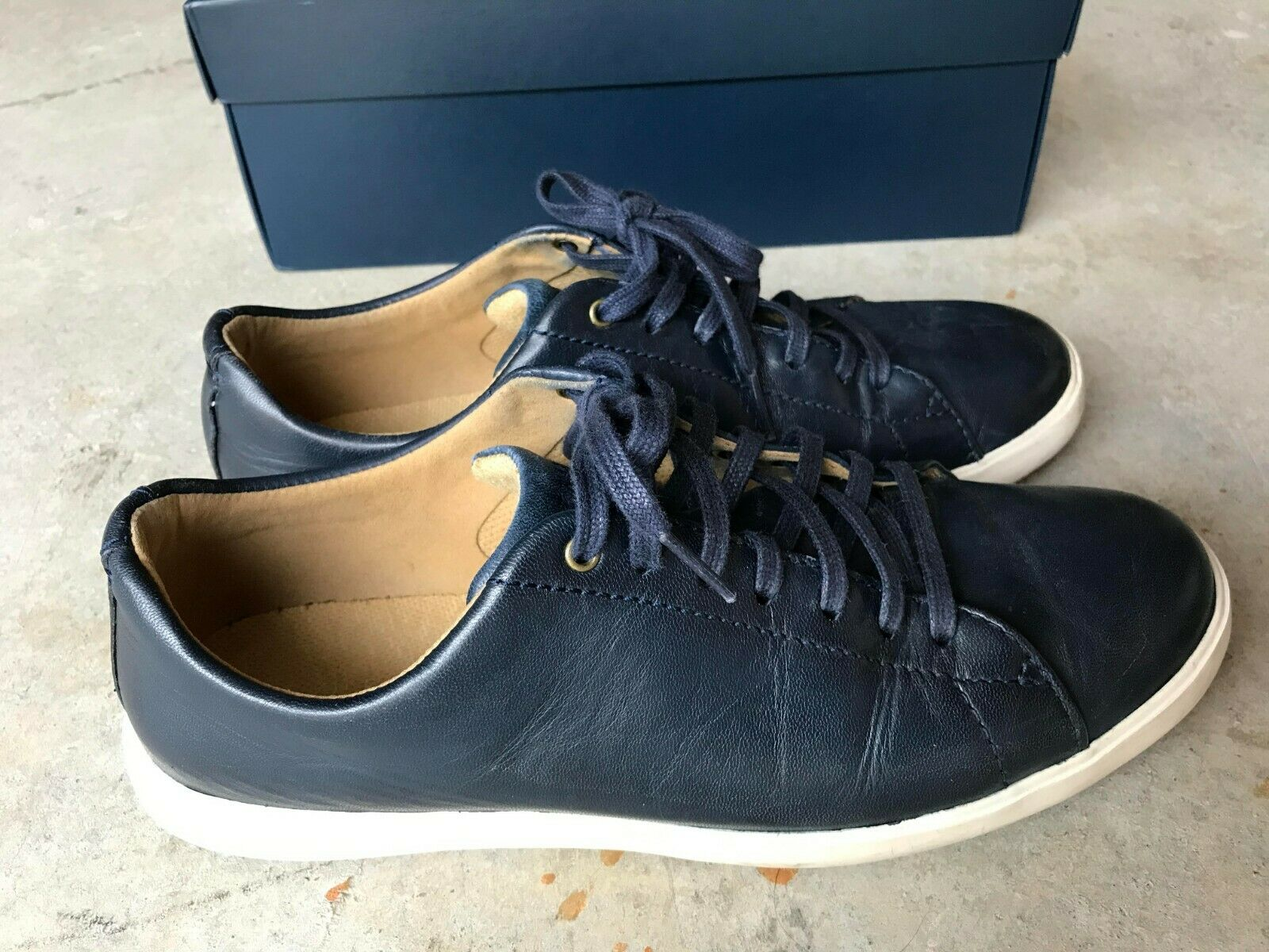 Cole Haan Crosscourt Fashion Sneakers Grand OS Mens 8 Leather Casual bluee
