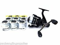 Avanti 10/10 Fishing Reel 10 Bearings ,twin Handle + 10 Spools With Line