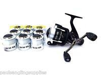 Avanti 10/10 Fishing Reel 10 Bearings ,twin Handle + 10 Spools With Line