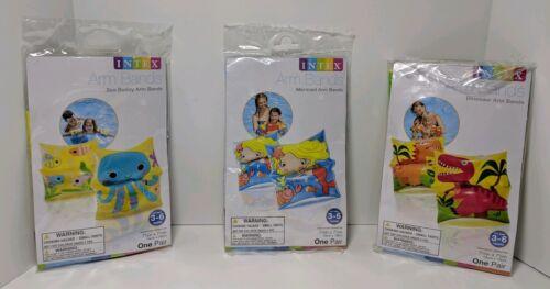 3 Pairs Intex Children/'s Inflatable Swim Arm Bands Kids Floaties Water Wings NEW