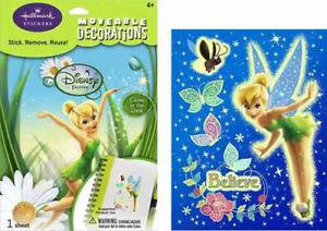DISNEY TINKERBELL wall stickers Tink Fairy 5 room decals Believe butterflies