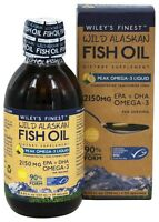 Wiley's Finest Wild Alaskan Fish Oil 2150mg 250ml