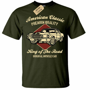 American-Classic-King-of-the-road-muscle-car-T-Shirt-Unisex-Mens