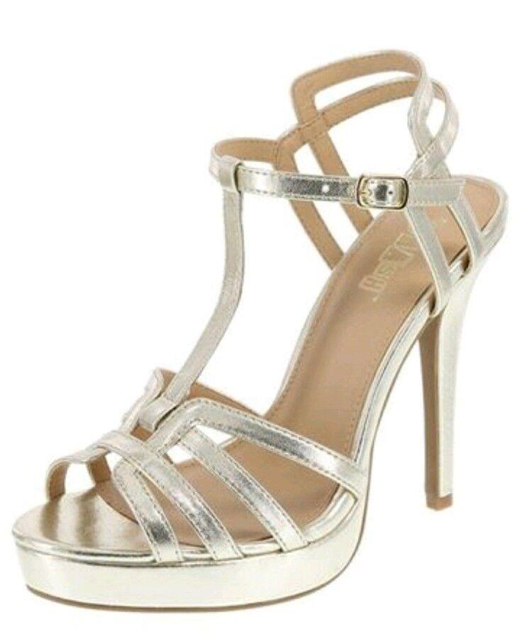Brash Heel Women's Gold Heidi Platform High Heel Brash Sandals Regular Size 8 7d60e1