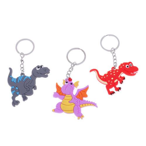 6Pcs Dinosaur keyring dinosaur keychain pendant kids school bag keychain YG