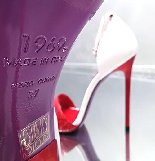 NEW 1969 ITALY LIMITED EDITION Farbe Echtleder Echtleder Echtleder M99 High Heels Sandalen Pumps 43 61784f