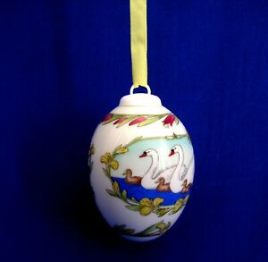 China-Egg-Ornament-Spring-2000-039-Ole-Winther-039-Egg-shaped-China-Ornament
