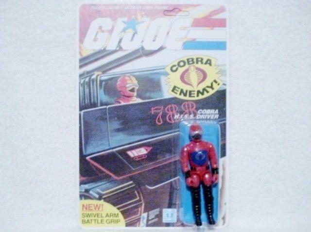 1983 gi joe cobra hiss fahrer 100% komplett auf un - lochkarten