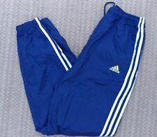 Vintage Adidas Track Pants M Medium Navy Blue Classic 3 Stripe Trefoil 90s Logo