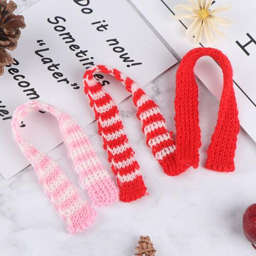 3Pcs 1//12 1//6 Dollhouse Miniature Christmas Scarf Dollhouse Accessories De ZS~GN