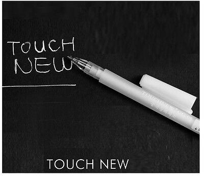 Touch New 08 Hybrid Gel Grip Gel Ink Roller Pen 0.8mm White color x1